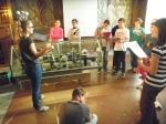 Deváťáci v památníku na Vítkově 2. 10. 2014